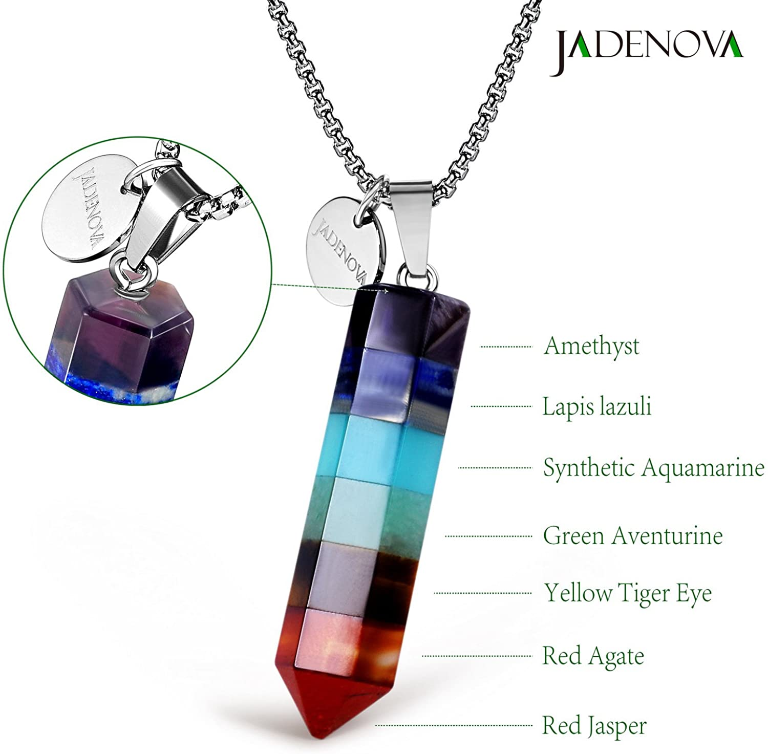 crystal jewelry healing crystal gemstone Agate necklace natural stone healing necklace crystal necklace chakra necklace