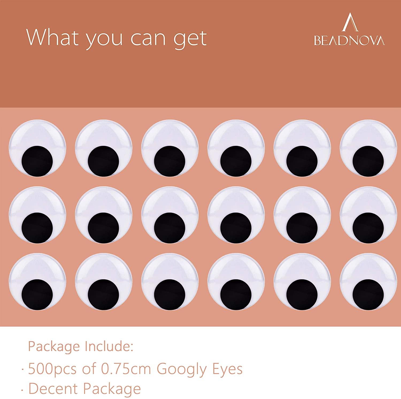 BEADNOVA Black Wiggle Googly Eyes 8mm -1