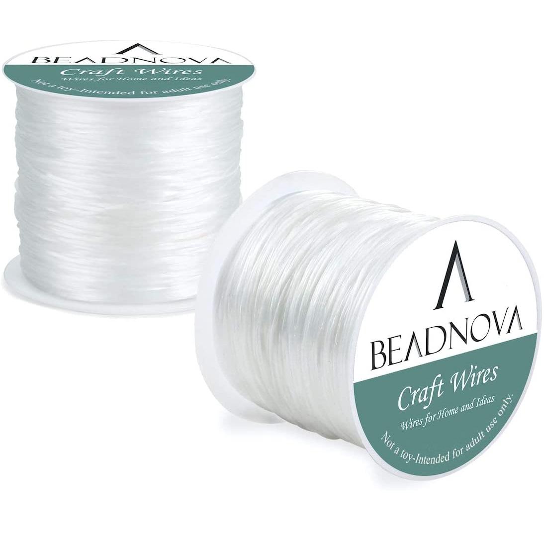 BEADNOVA Illusion Cord 1mm Bracelet crystal String-1