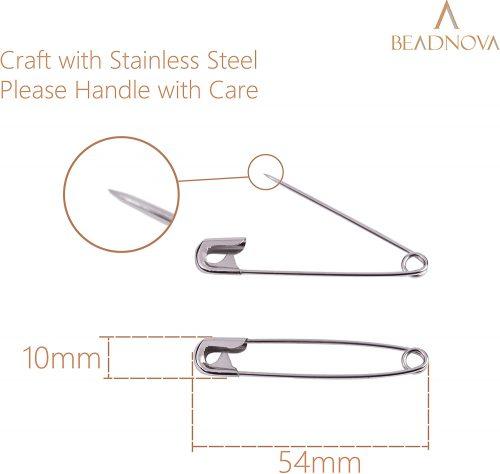 BEADNOVA Large Safety Pins