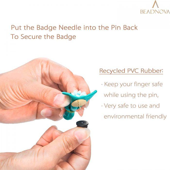 BEADNOVA Rubber Pin Back Butterfly Clutch Backings