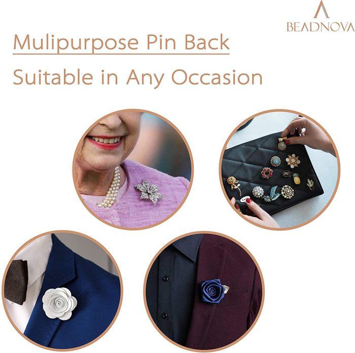 BEADNOVA Rubber Pin Back Butterfly Clutch Backings-50pcs