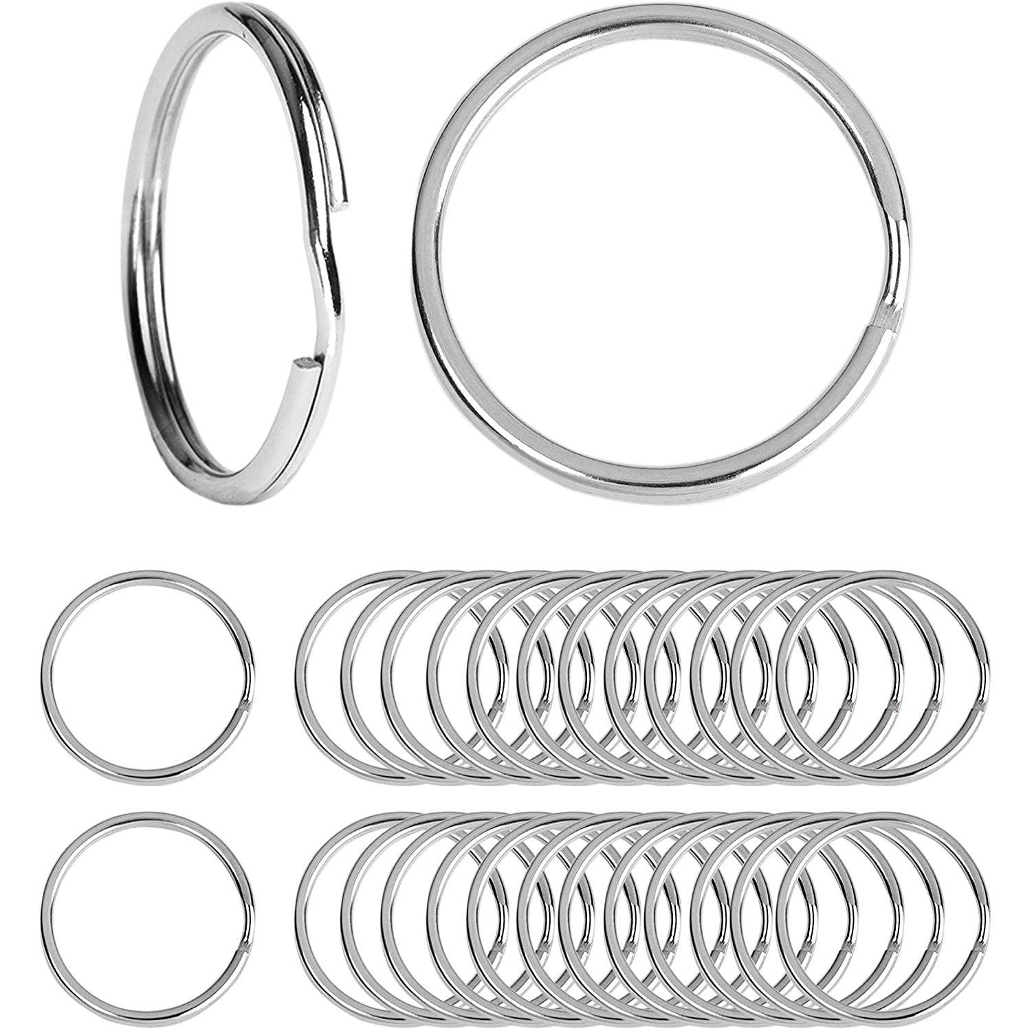 Beadnova Key Chain Ring Metal Split Ring-20mm