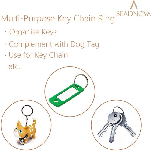 Beadnova Key Chain Ring Metal Split Ring-20mm