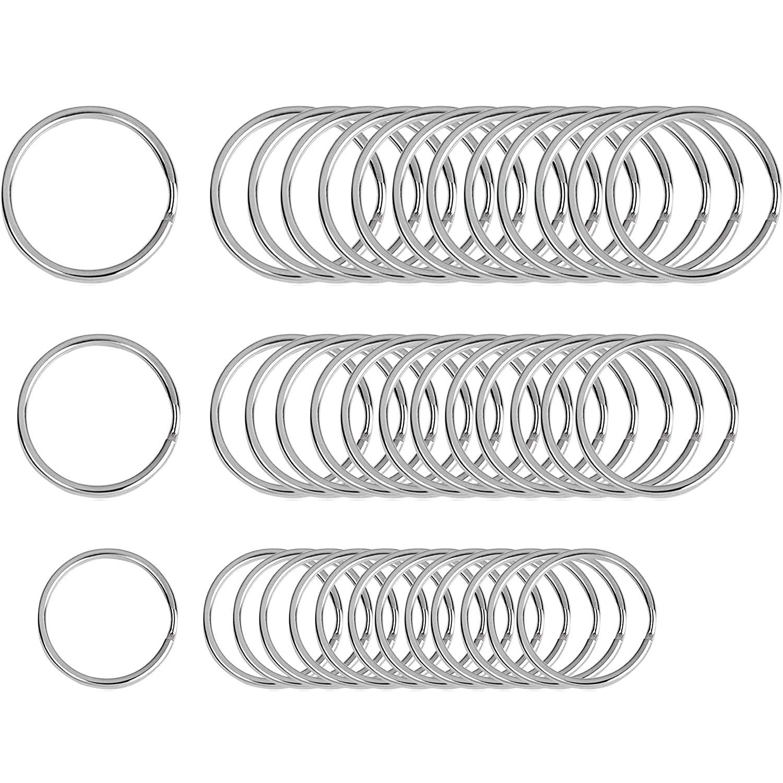 Beadnova Key Chain Ring Metal Split Ring-3sizes-