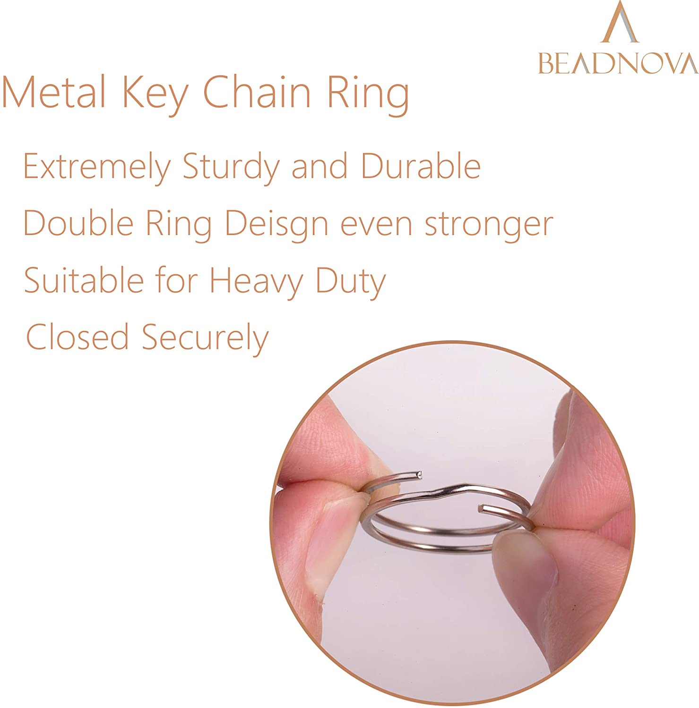 Beadnova Key Chain Ring Metal Split Ring