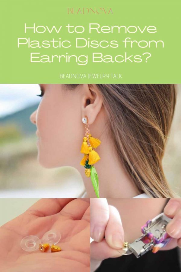 remove plastic from earring back