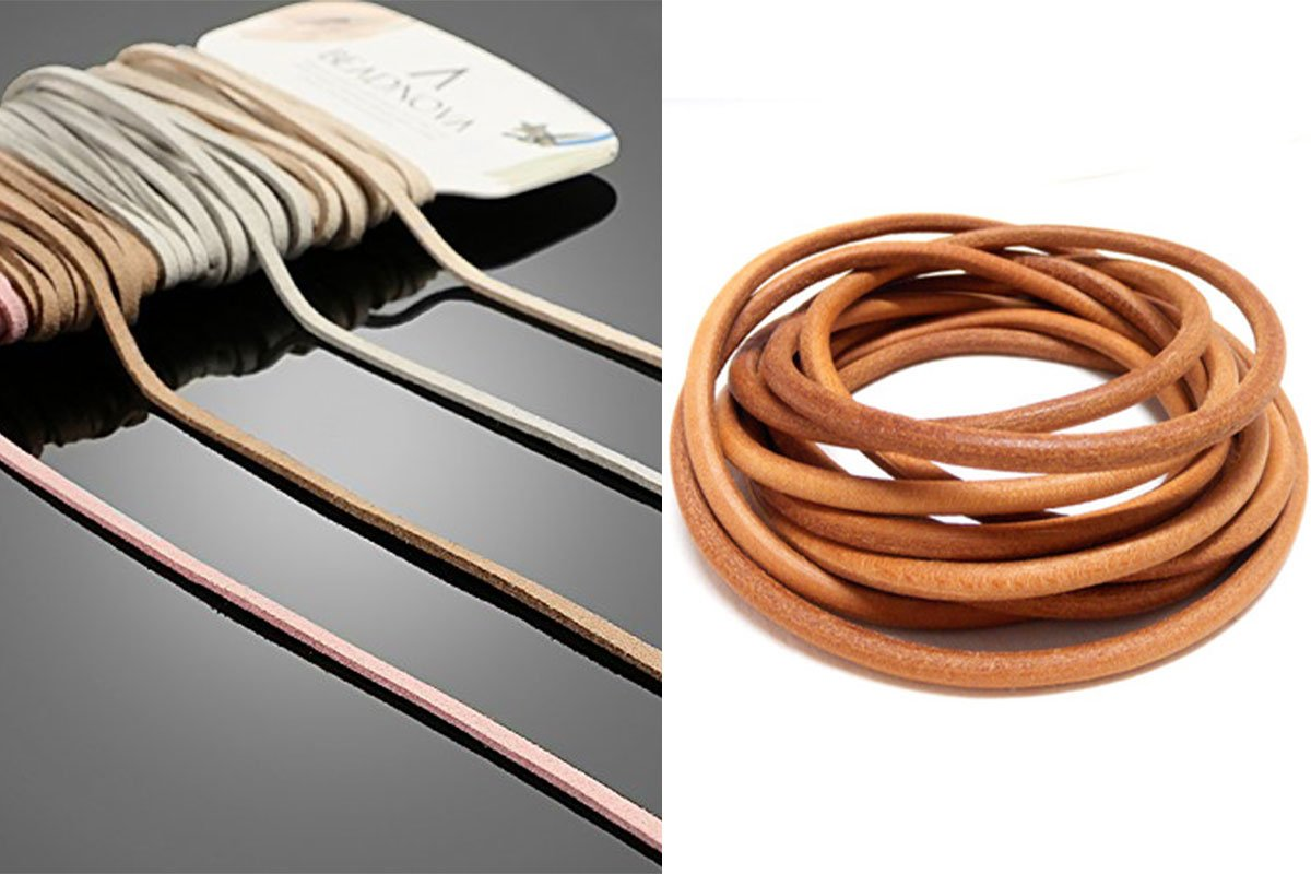 Round flat Leather Cord