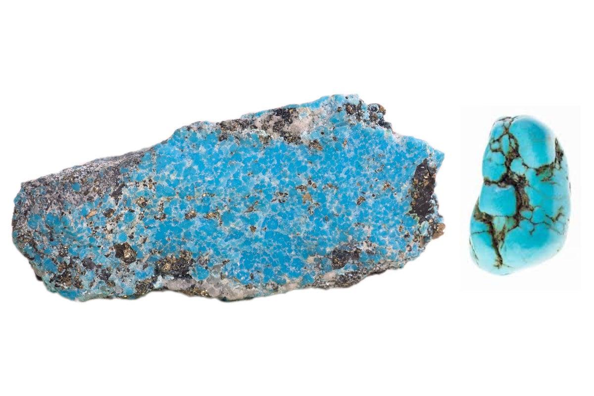 Turquoise vs Blue Howlite Stone