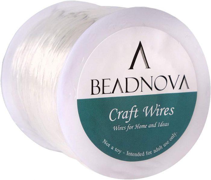 beadnova 0.8mm bracelet string clear-1