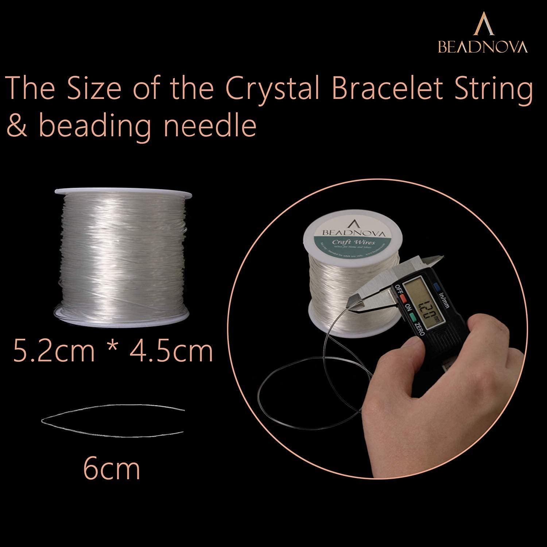beadnova 0.8mm bracelet string clear-2