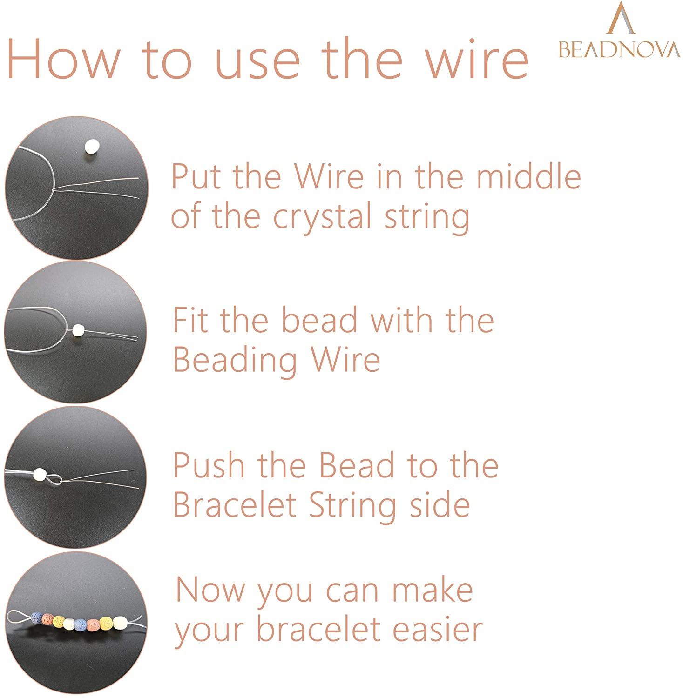 beadnova 0.8mm bracelet string clear-3