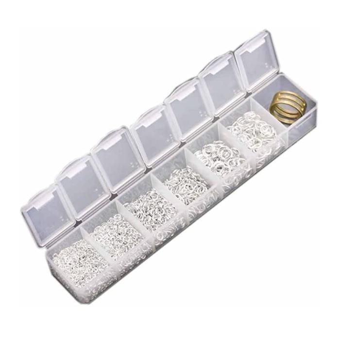 beadnova jump rings with tool box set silver-2000pcs
