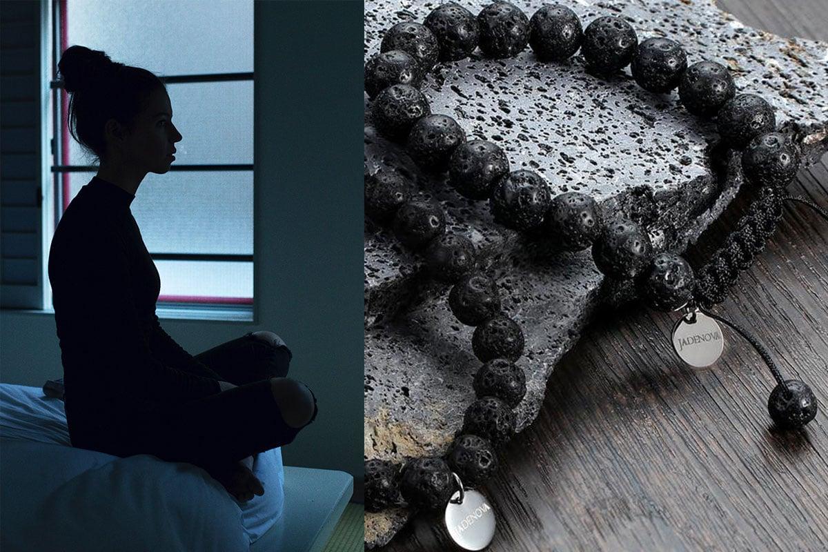Lava Rock Beads Bracelet