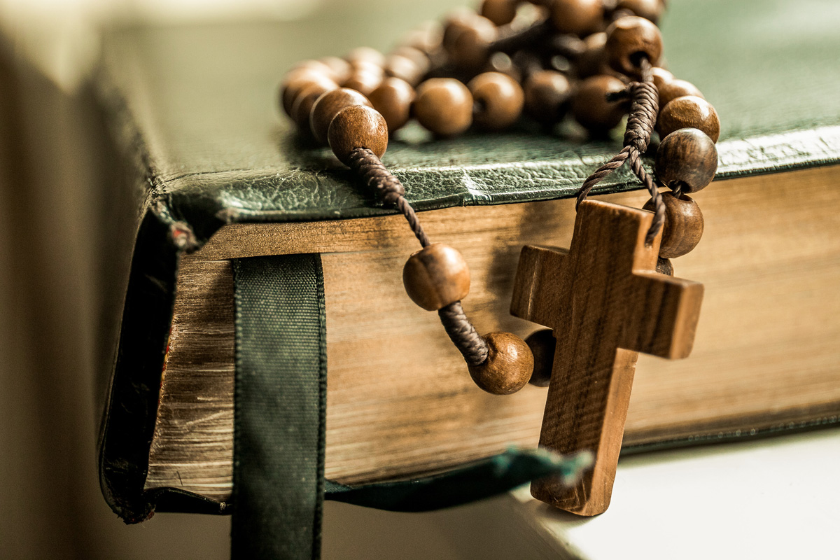 Wooden Beads on a Rosary