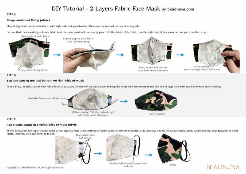 3d olson face mask with filter pocket step-by-step guide