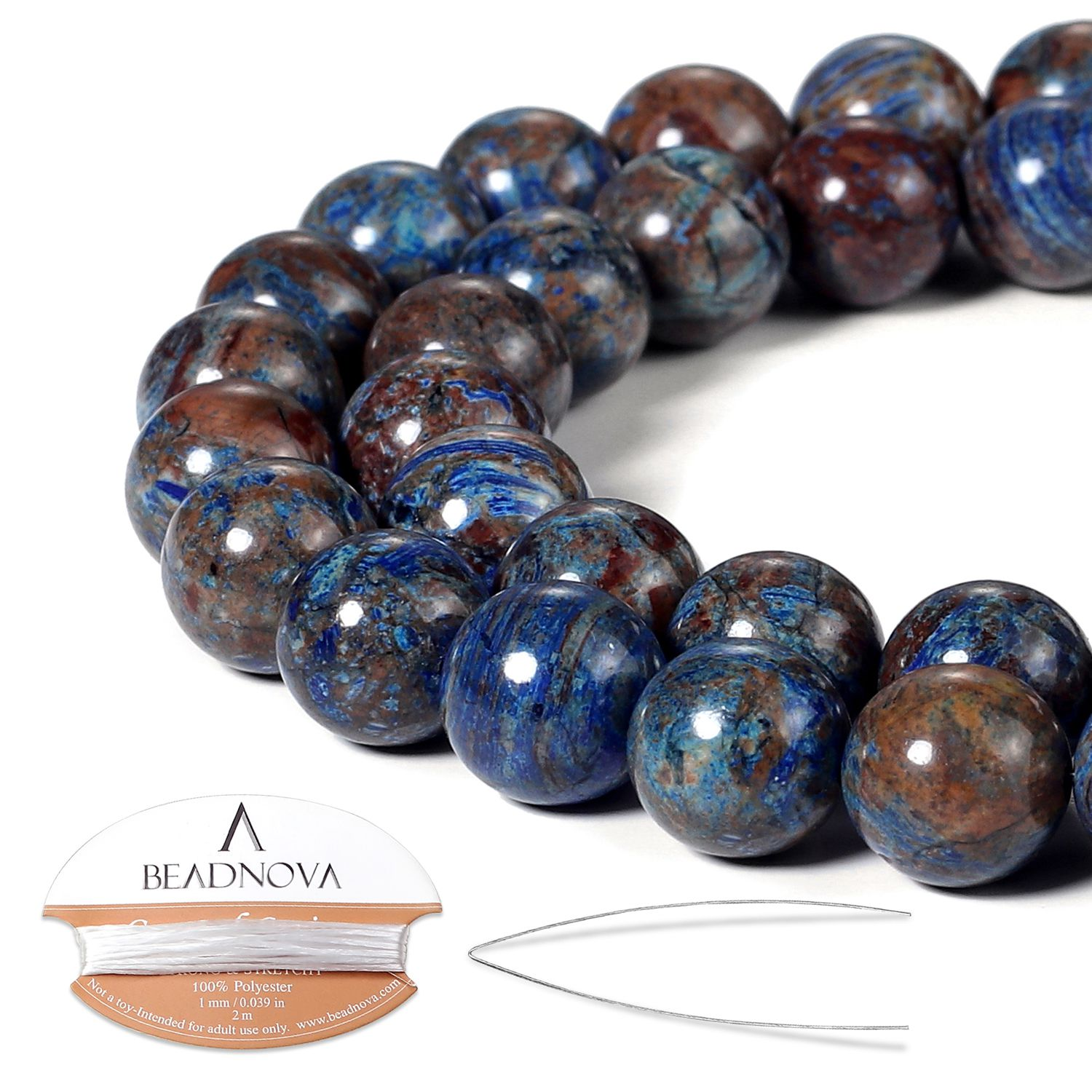 Blue Onyx  Drilled Beads Lot