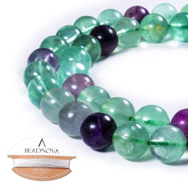 fluorite gemstone beads for jewelry making