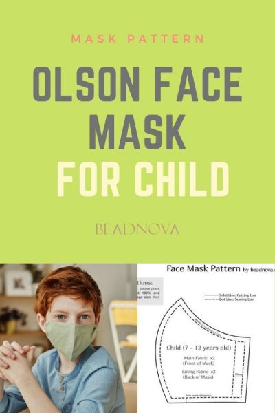 Free printable 3D Olson Face mask pattern for child