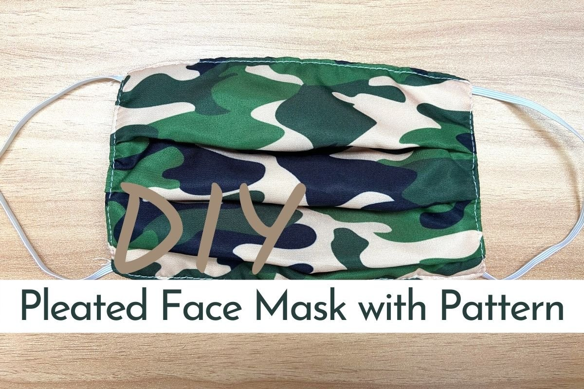 simple pleated face mask with filter pocket