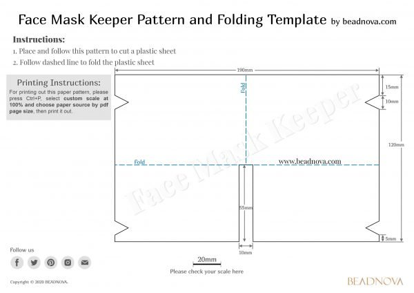 Face Mask Keeper Holder and Template