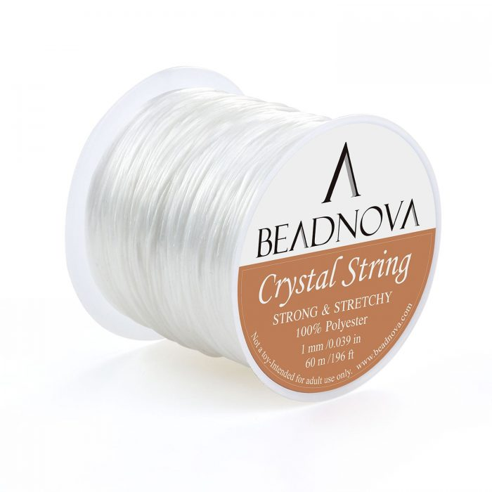 Elastic crystal string for jewelry making