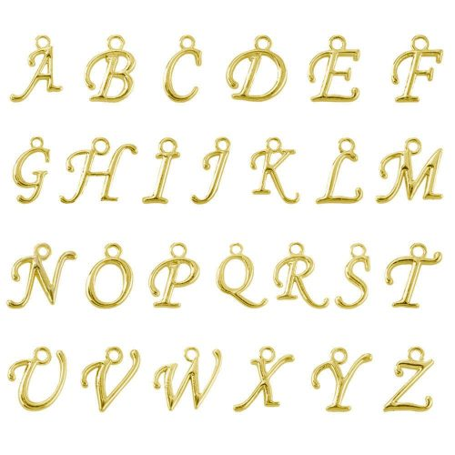 Alphabet Charms for Jewelry Making