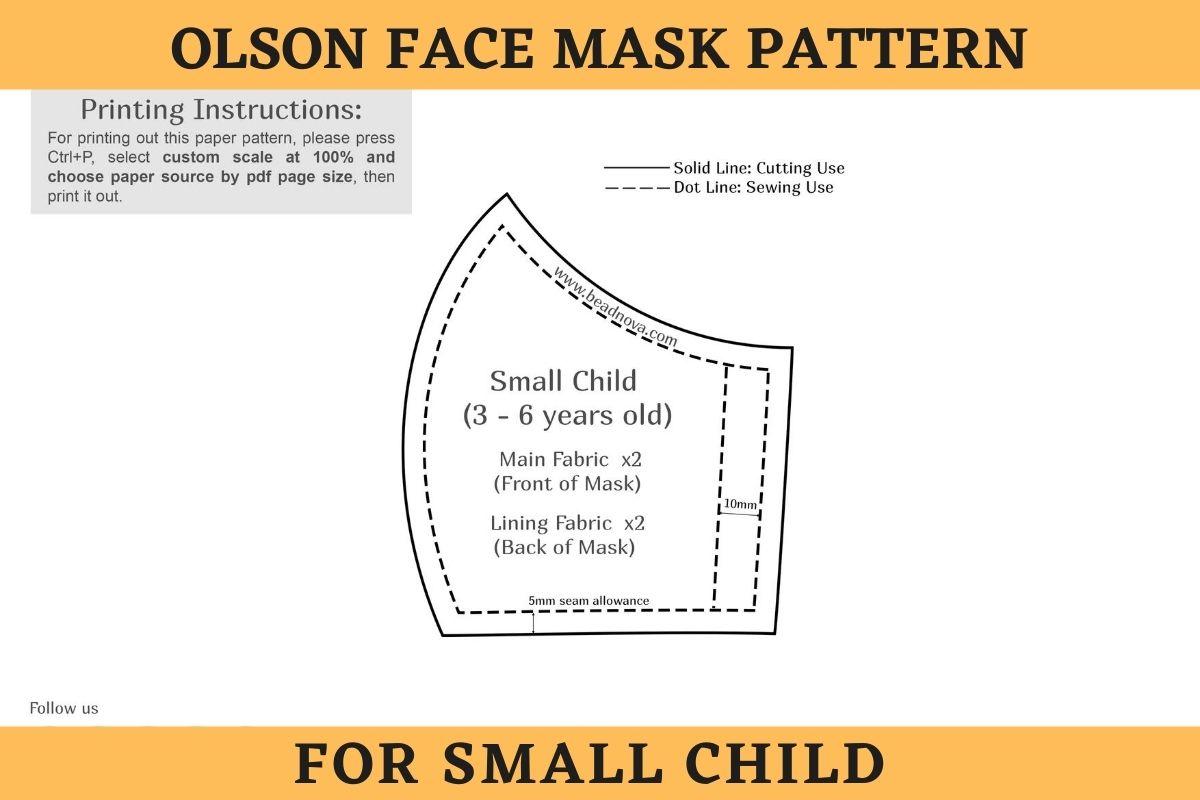 Face Mask Pattern - Small Child