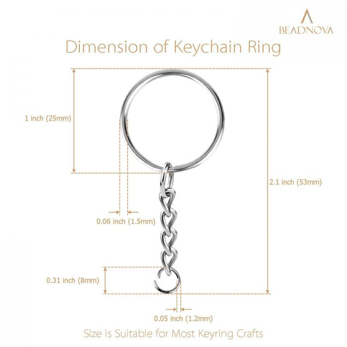 Split Key Rings with chain