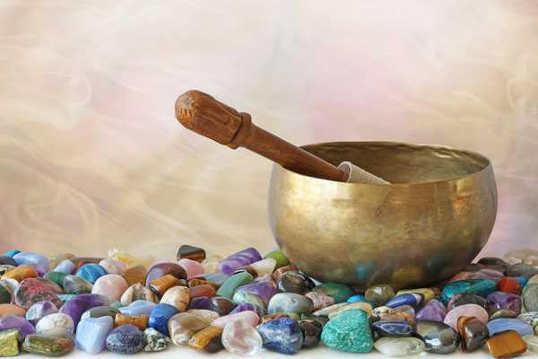 singing bowl, recharge crystals