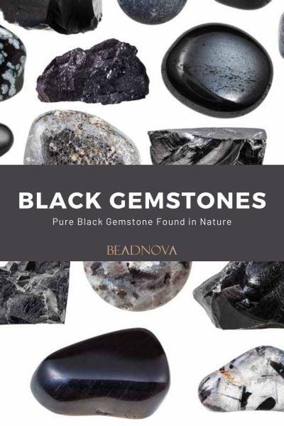 pure black gemstone name list
