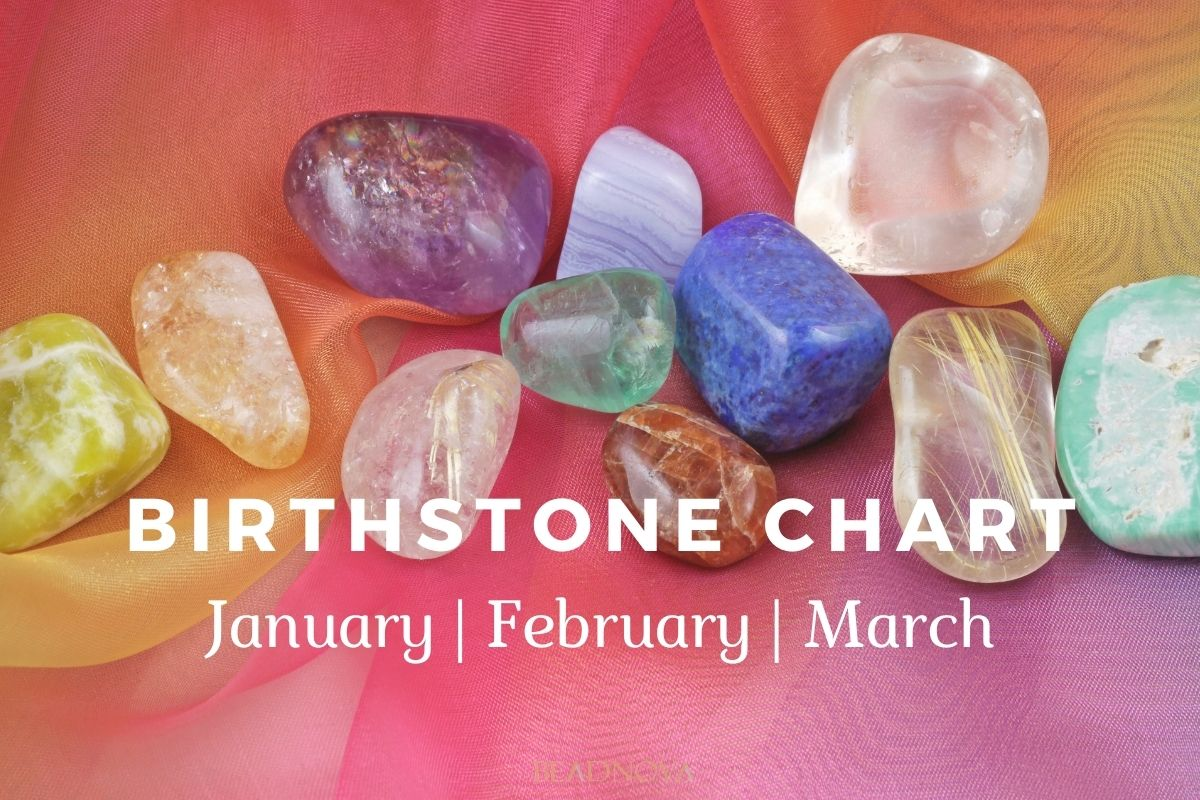 Birthstone Chart- January,february,march