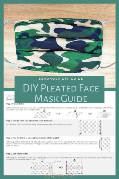 Pleated face mask guide
