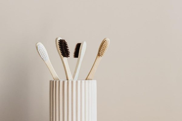 Hydrogen peroxide sanitise toothbrushes