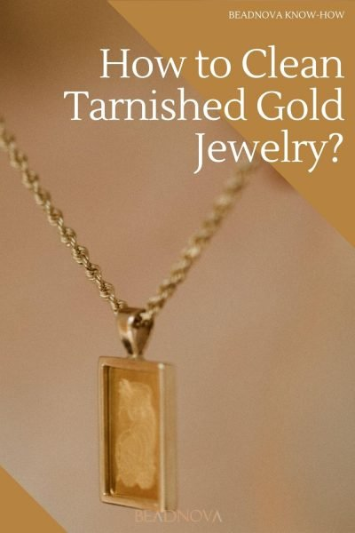 how to clean tarnished gold jewelry
