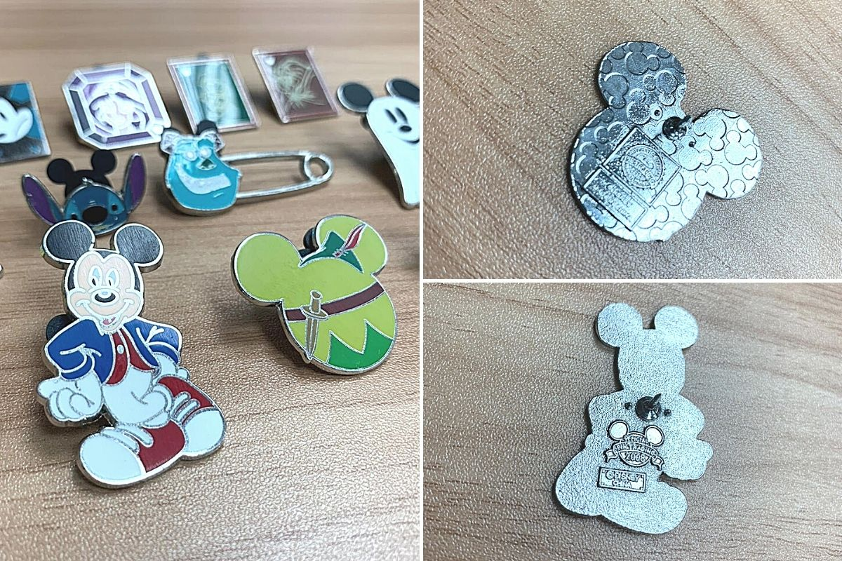 identify real authentic disney pin by checking magentic and serial number