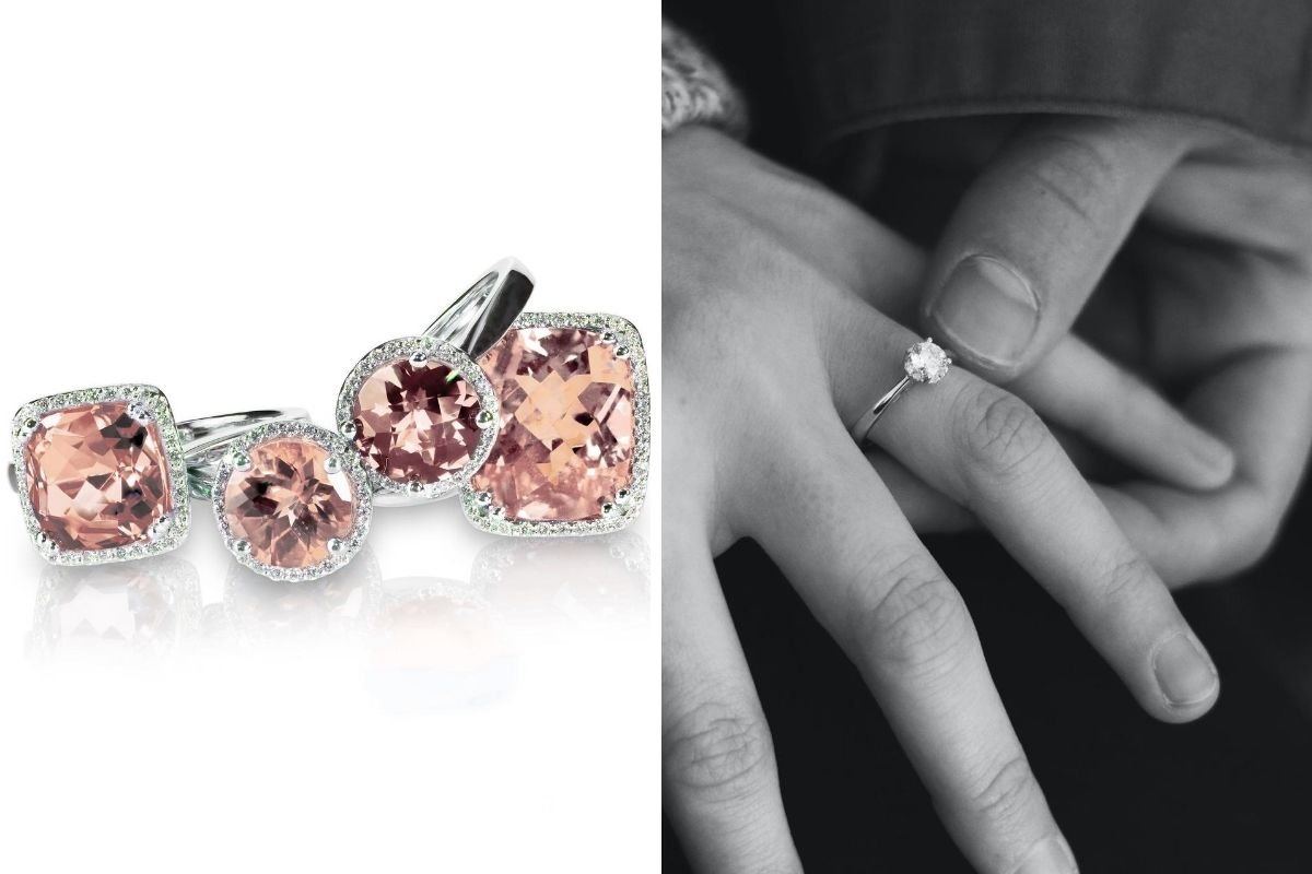 morganite engagement ring vs diamond