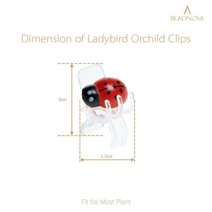Plant-Clips-Ladybug-Orchid-Clips-Orchid-Support-Clips
