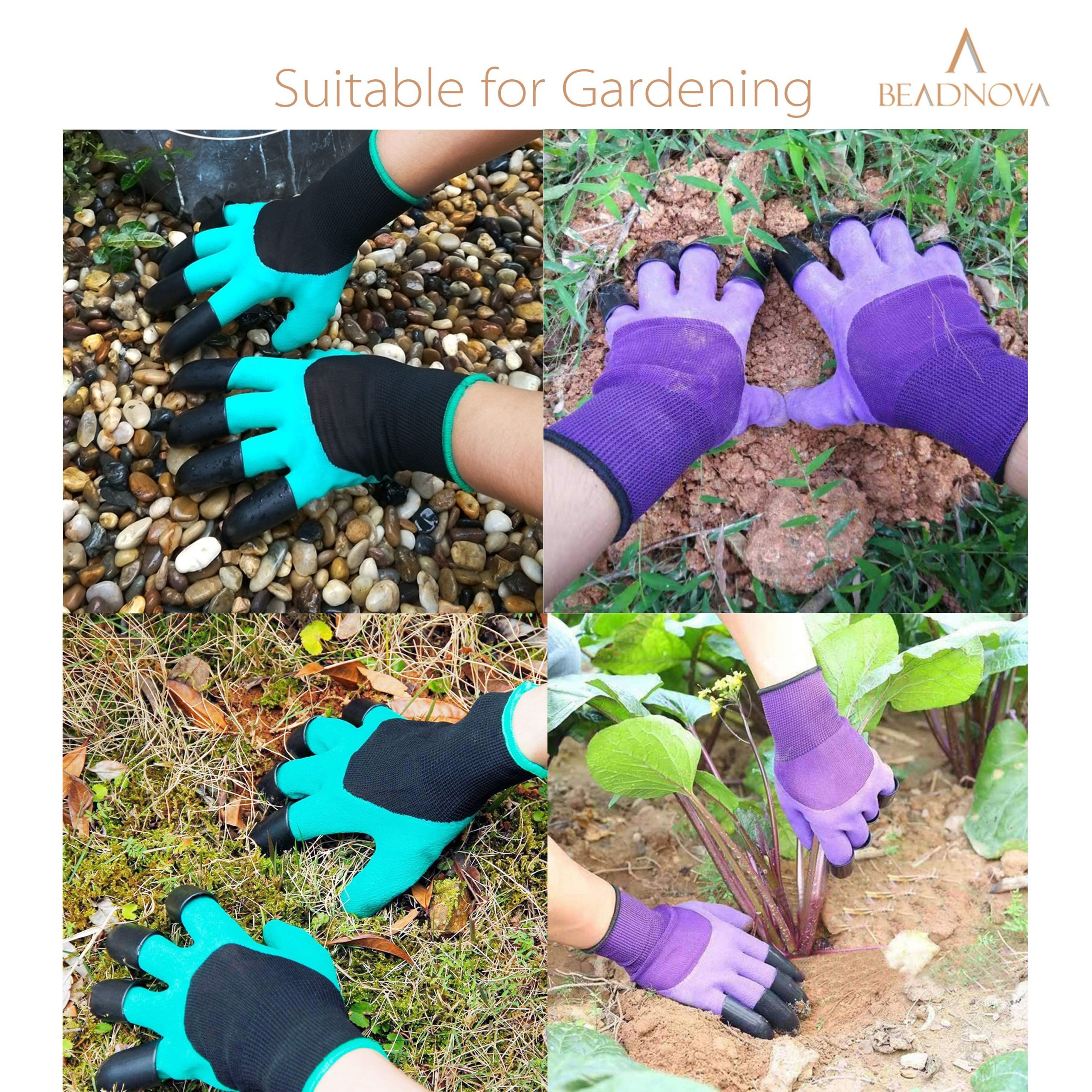 Gardening-Gloves-With-Claws-Digging-Purple-And-Green
