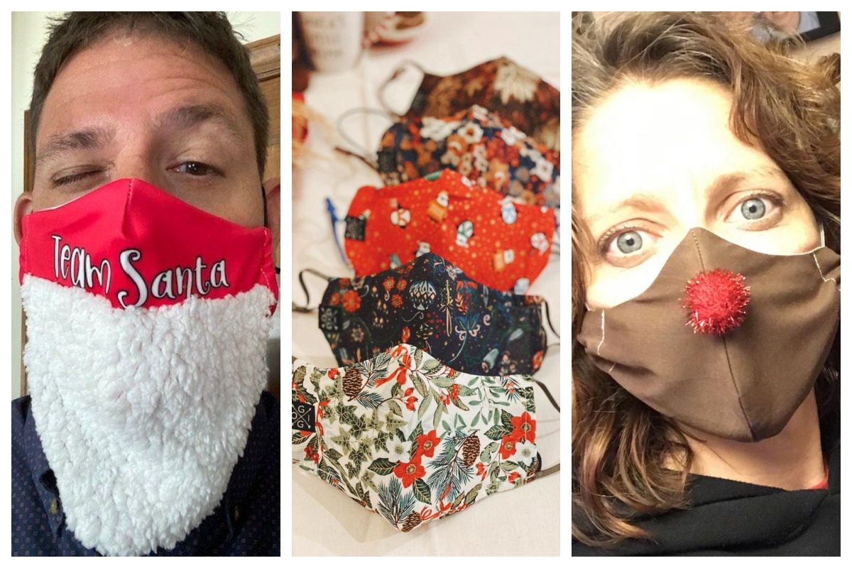 Coronavirus Christmas Face Masks