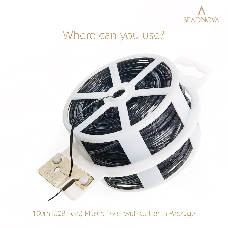 Twist-Ties-Garden-Twisty-Ties-Black-100M-328-Feet