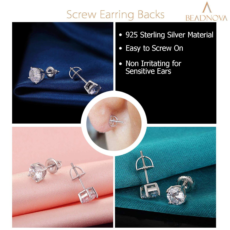 925-Sterling-Silver-Screw-Earring-Backs-18-Gauge-4-pcs