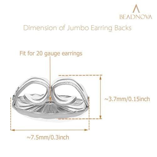 925-Sterling-Silver-Flower-Earring-Backs-2-Pairs