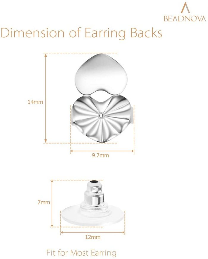 BEADNOVA Magic Earring Lifter Earring Back for Droopy Ear