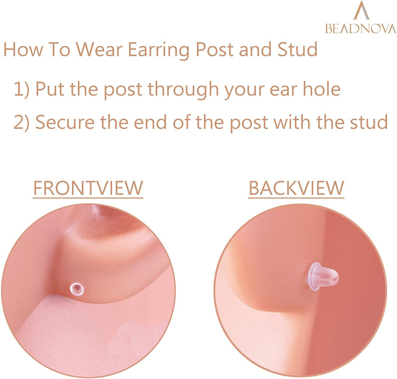 BEADNOVA-Plastic-Invisible-Earrings-for-Sports-Work-School-