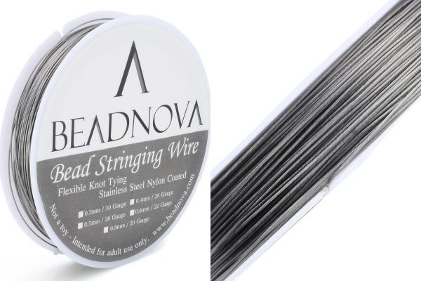 Nylon Coated Stainless Steel Bead Stringing Wire.