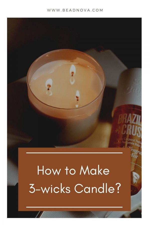 How to Make 3 Wicks Candle?